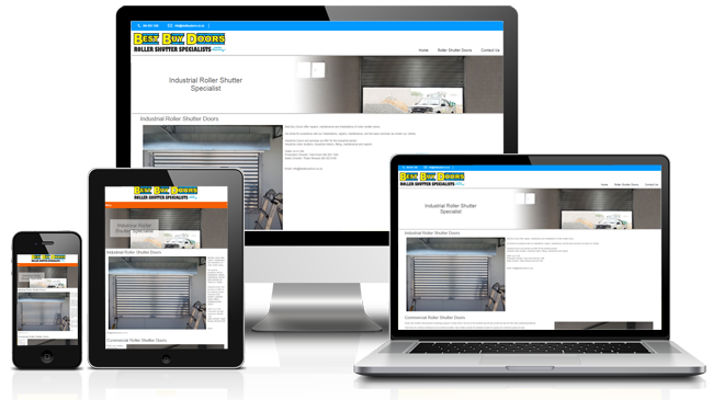 Roller Shutter Door Website Design